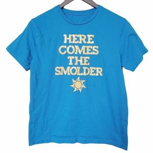"""Kids """"Here comes the smolder ☀""""  Blue Tee"""